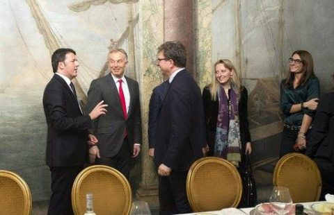 Matteo Renzi and Tony Blair